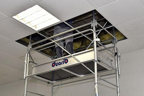 Echafaudage roulant acier AC faux-plafonds