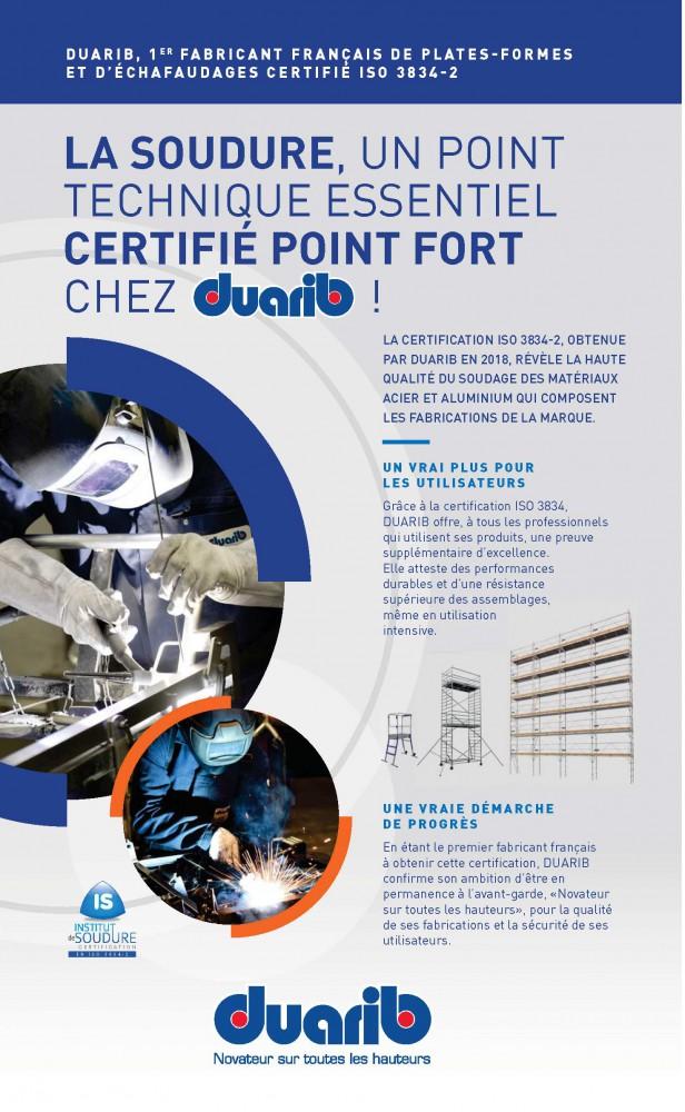 certification soudure iso 3834-2 norme référence pour la qualité de soudage